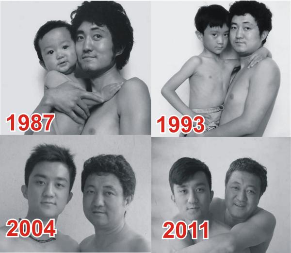 26 il ardıcıl ata və oğulun fotoları